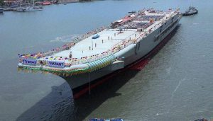 INS Vikrant: Navy Chief reviews construction of India's indigenous aircraft carrier.